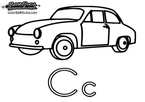 Ausmalbild C-Car