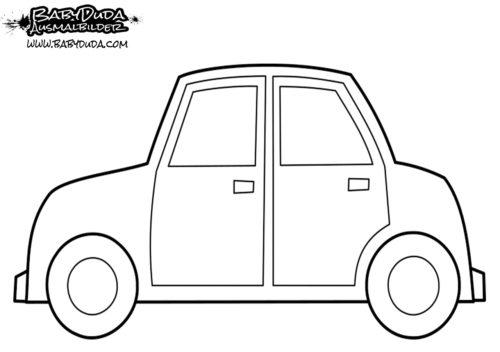 Ausmalbild Einfaches Auto