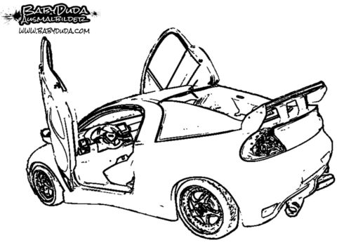 Ausmalbild Mazda getuned