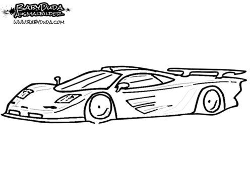 Ausmalbild McLaren