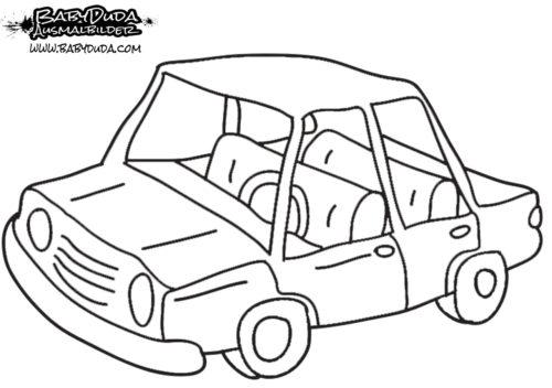 Malvorlage Simples Auto