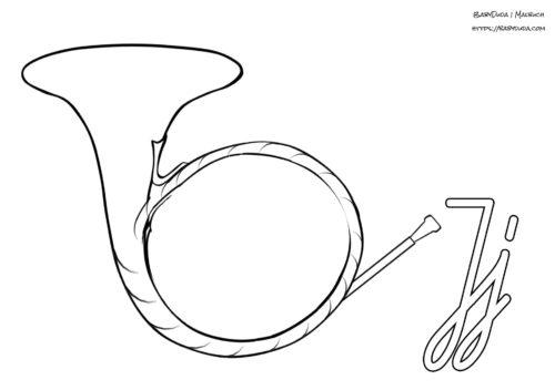 Abc Ausmalbilder Instrumente Mit Anfangsbuchstaben Babyduda Malbuch