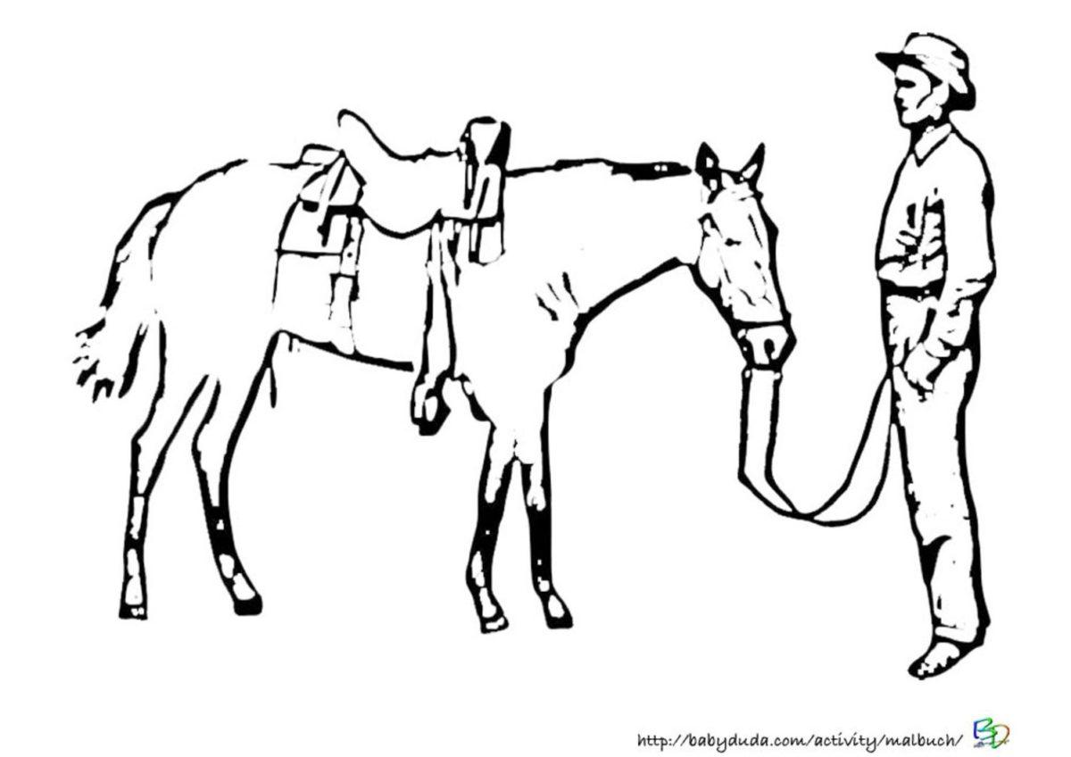Ausmalbilder Pferd und Reiter zum Ausdrucken kostenlos ...