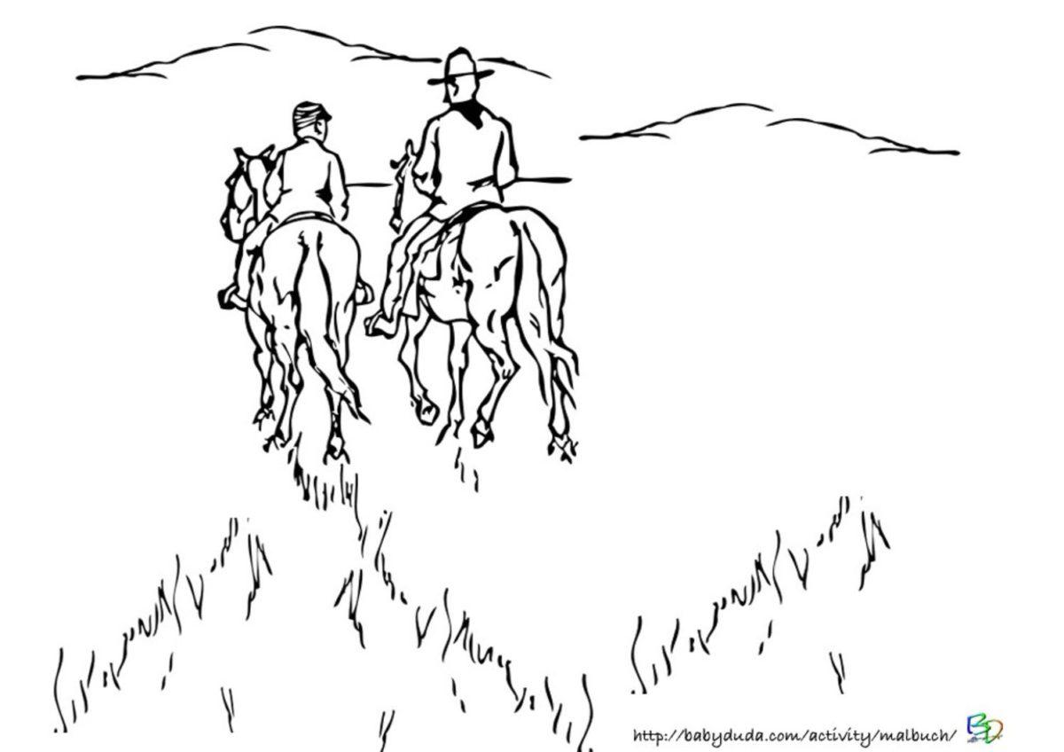 Ausmalbilder Pferd Mit Reiter : Pferdebilder Zum Ausdrucken Pferde Bilder Zum Ausmalen Und