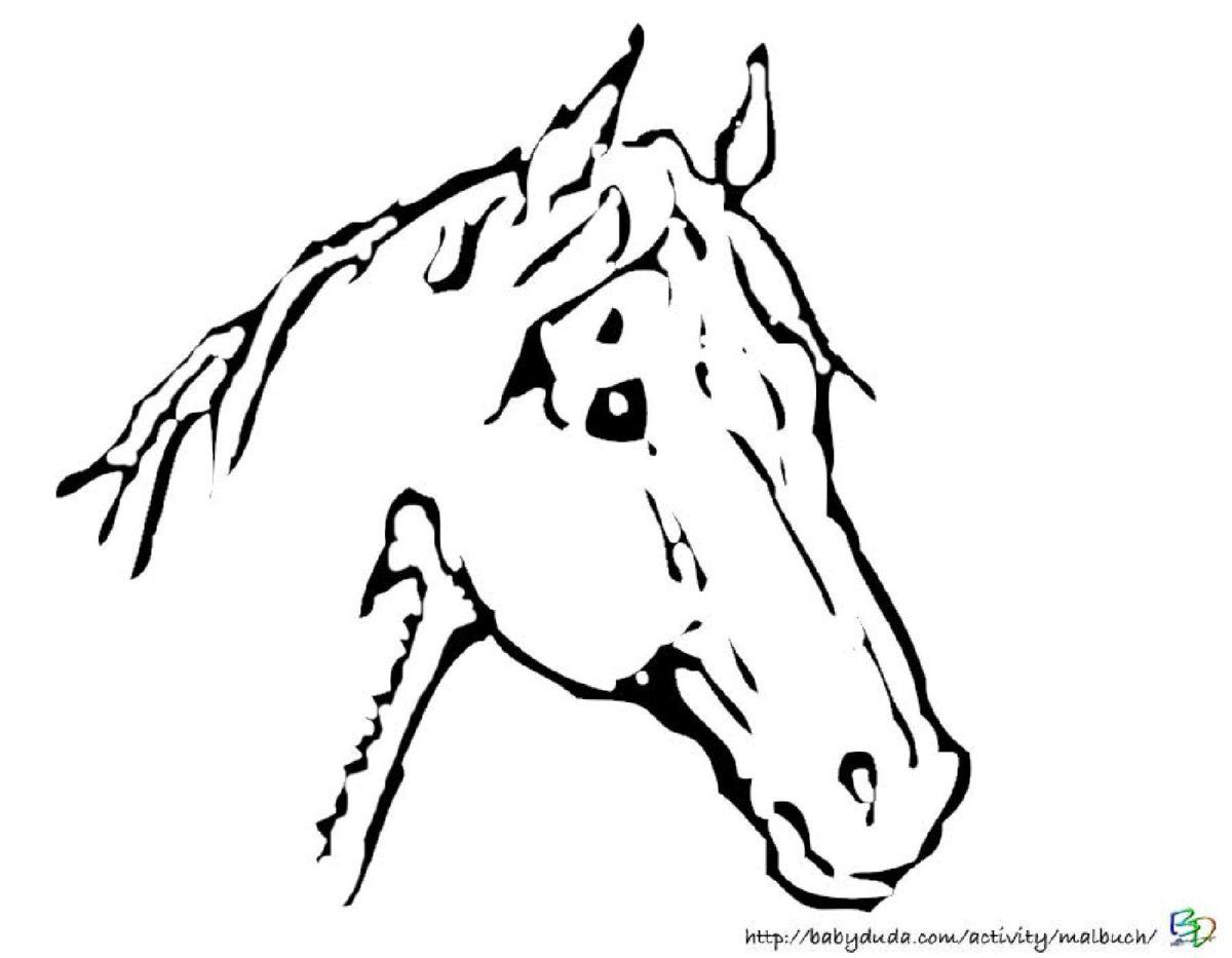 Tolle Viertel Pferdekopf Malvorlagen Galerie - Malvorlagen Von ...