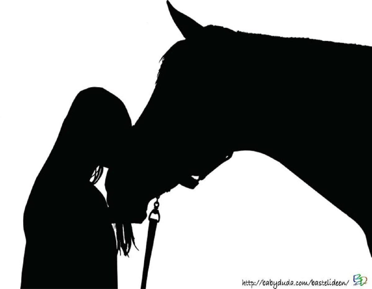 scherenschnitt pferd & einhorn: basteln für kinder