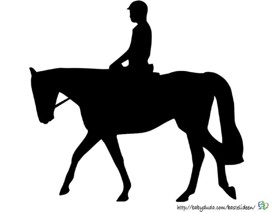 Scherenschnitt Pferd - Pferdesilhouette für Kinder zum Ausschnei