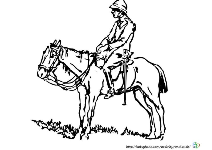 Vorlage Pferd und Mann