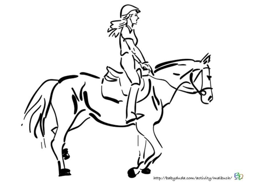 Ausmalbilder Pferd und Reiter zum Ausdrucken kostenlos  BabyDuda