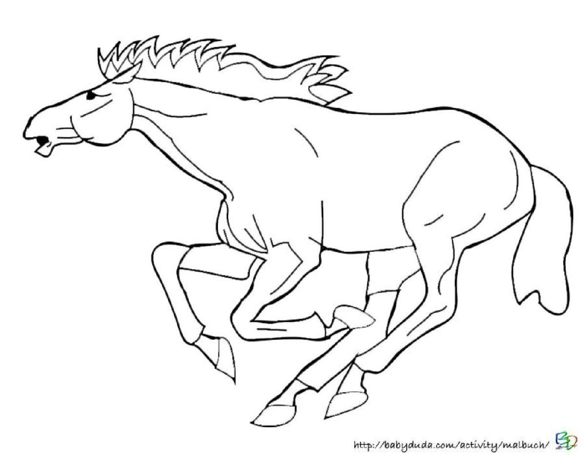 Viele tolle Pferde Ausmalbilder mit realistischen Vorlagen   BabyDuda