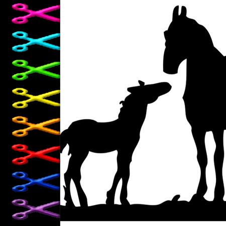 Pferde schablonen zum ausdrucken kostenlos