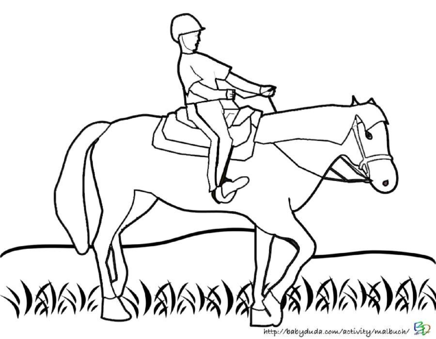 pferd mit reiter malvorlage | Coloring and Malvorlagan
