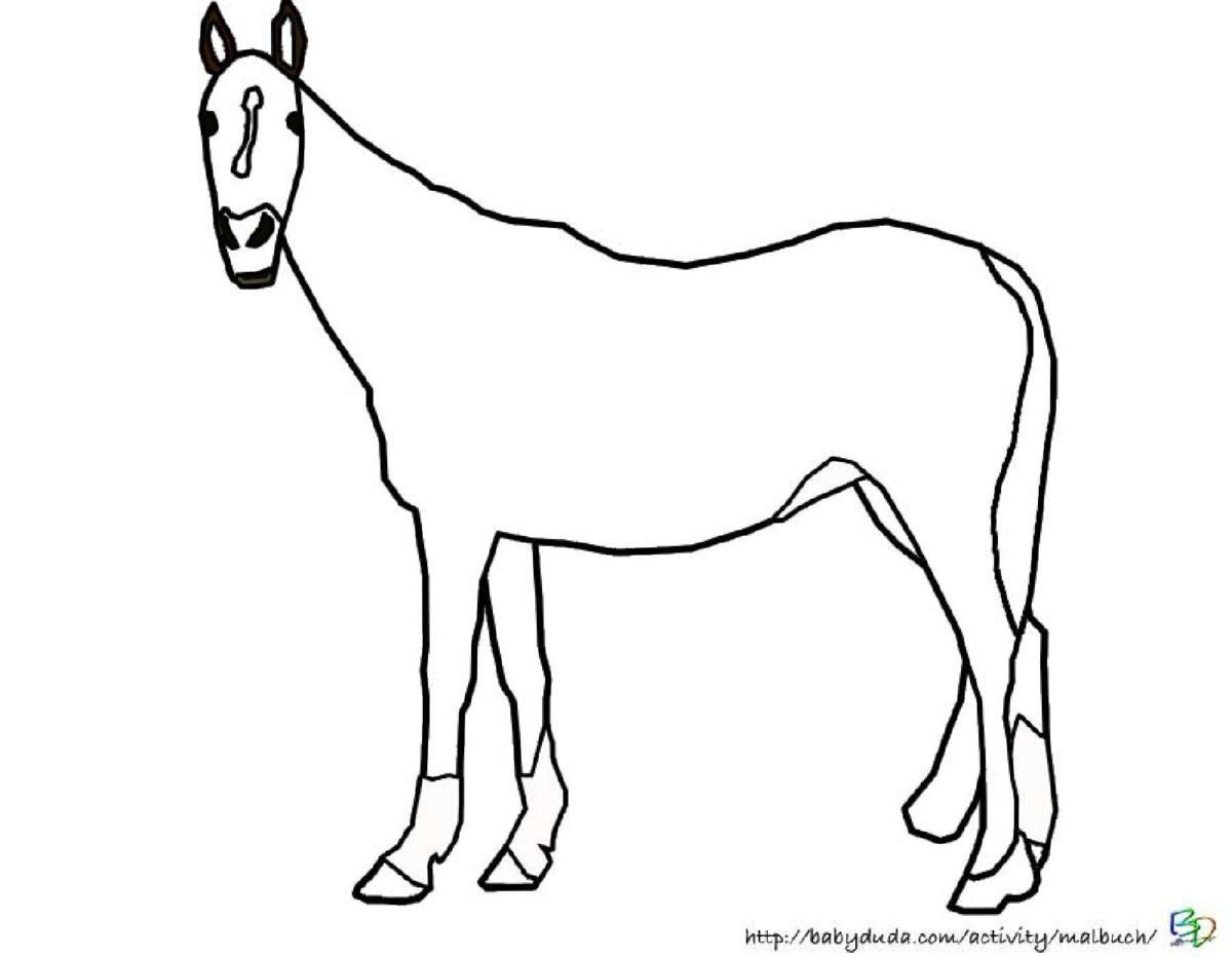 kindgerechte pferde ausmalbilder