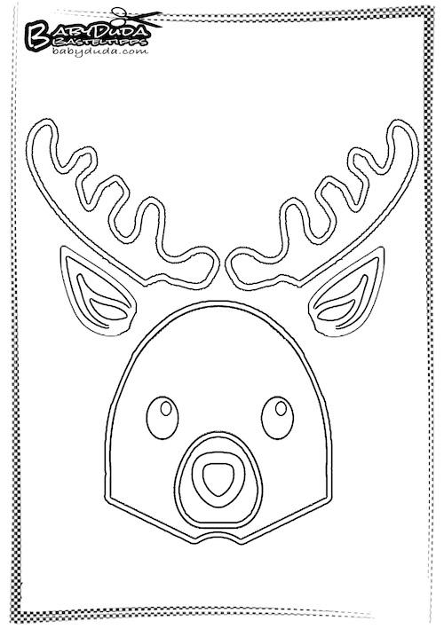 Umriss Einfaches Rentier - Weihnachtsbasteln