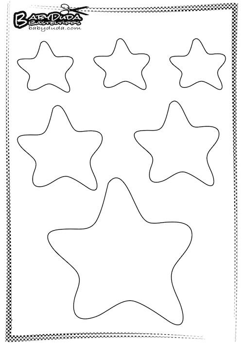 Umriss Stern - Kinderbasteln zu Weihnachten
