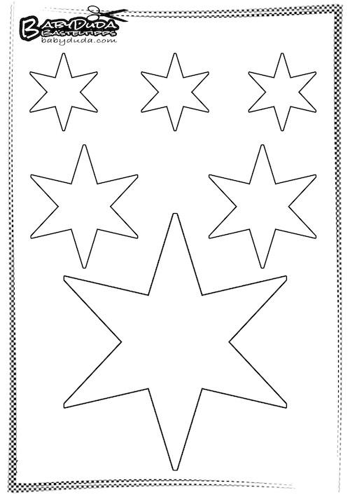 Vorlage Christlicher Stern - Weihnachtsdekoration selbst machen