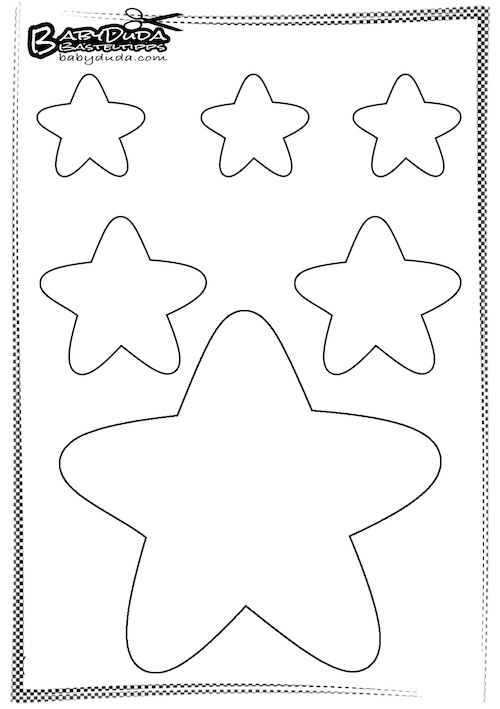 Vorlage Stern - Weihnachten Dekoration Basteln