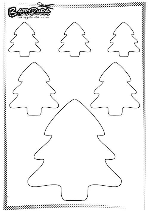 Umriss Tannenbaum - Basteln zu Weihnachten
