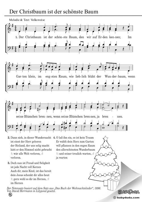 Weihnachtslied - Der Christbaum ist der schönste Baum