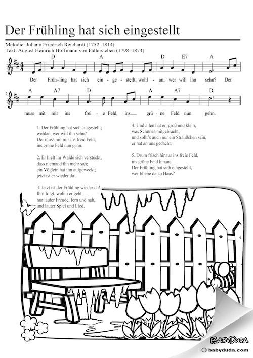 Kinderlied - Der Frühling hat sich eingestellt