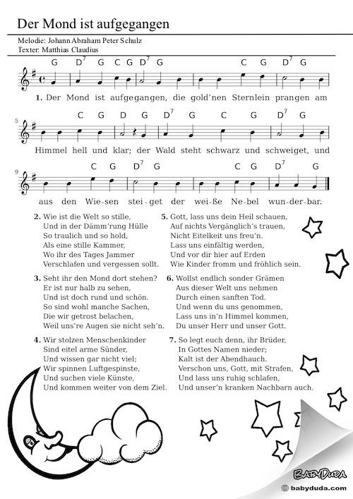 Kinderlied - Der Mond ist aufgegangen