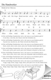 Liedtext Wer Will Fleißige Handwerker Sehn