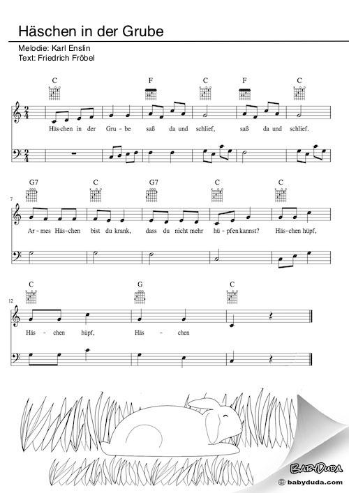 Häschen In Der Grube Lied