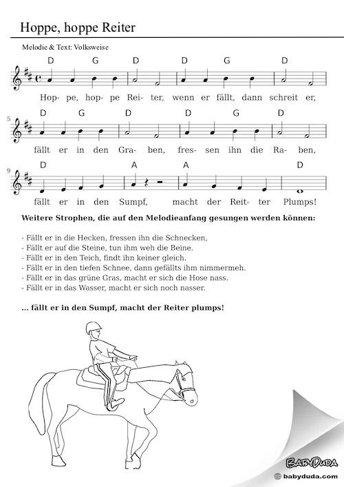 Kinderlied - Hoppe, hoppe Reiter