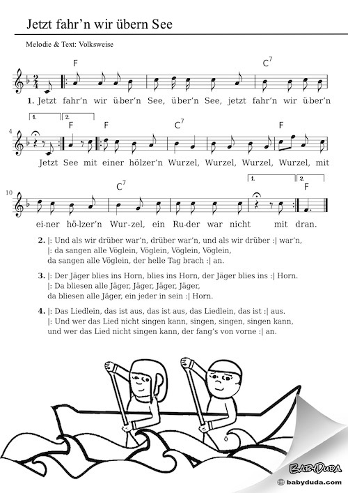 Lied Jetzt Fahrn Wir übern See