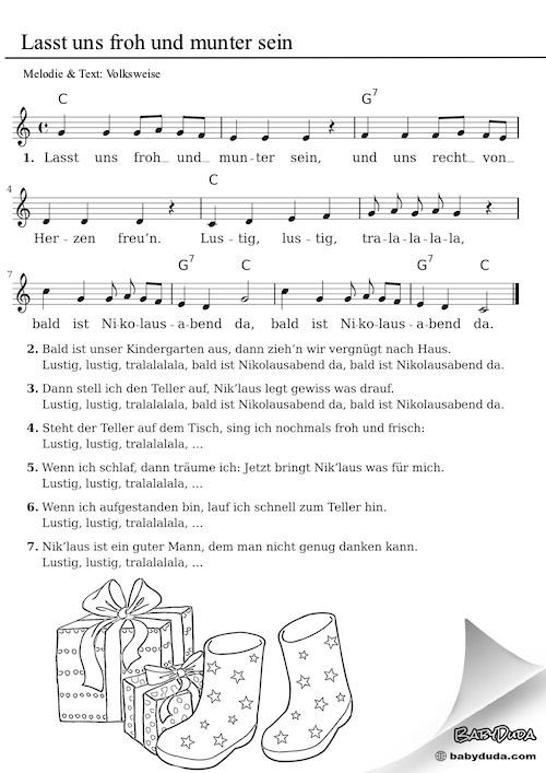 Kinderlied - Lasst uns froh und munter sein