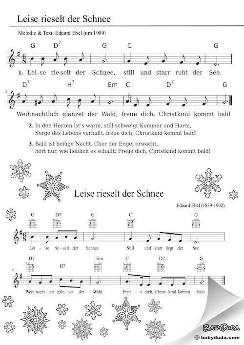 Kinderlied - Leise rieselt der Schnee
