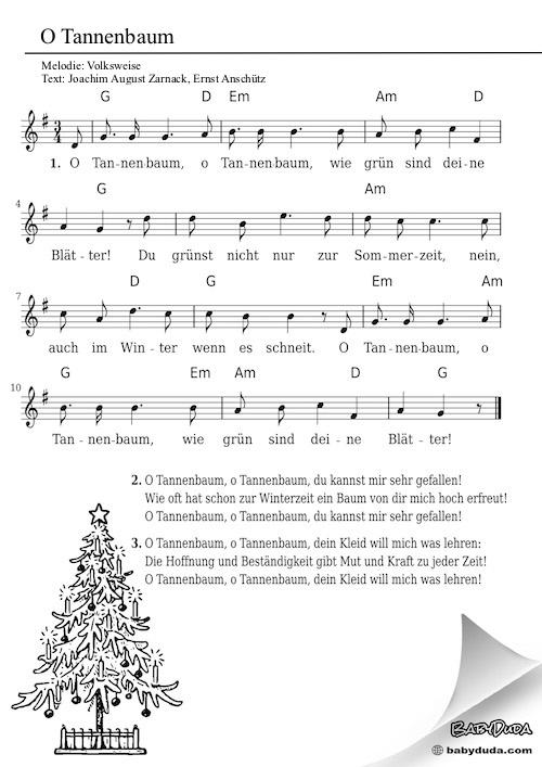 Kinderlied - O Tannenbaum, o Tannenbaum