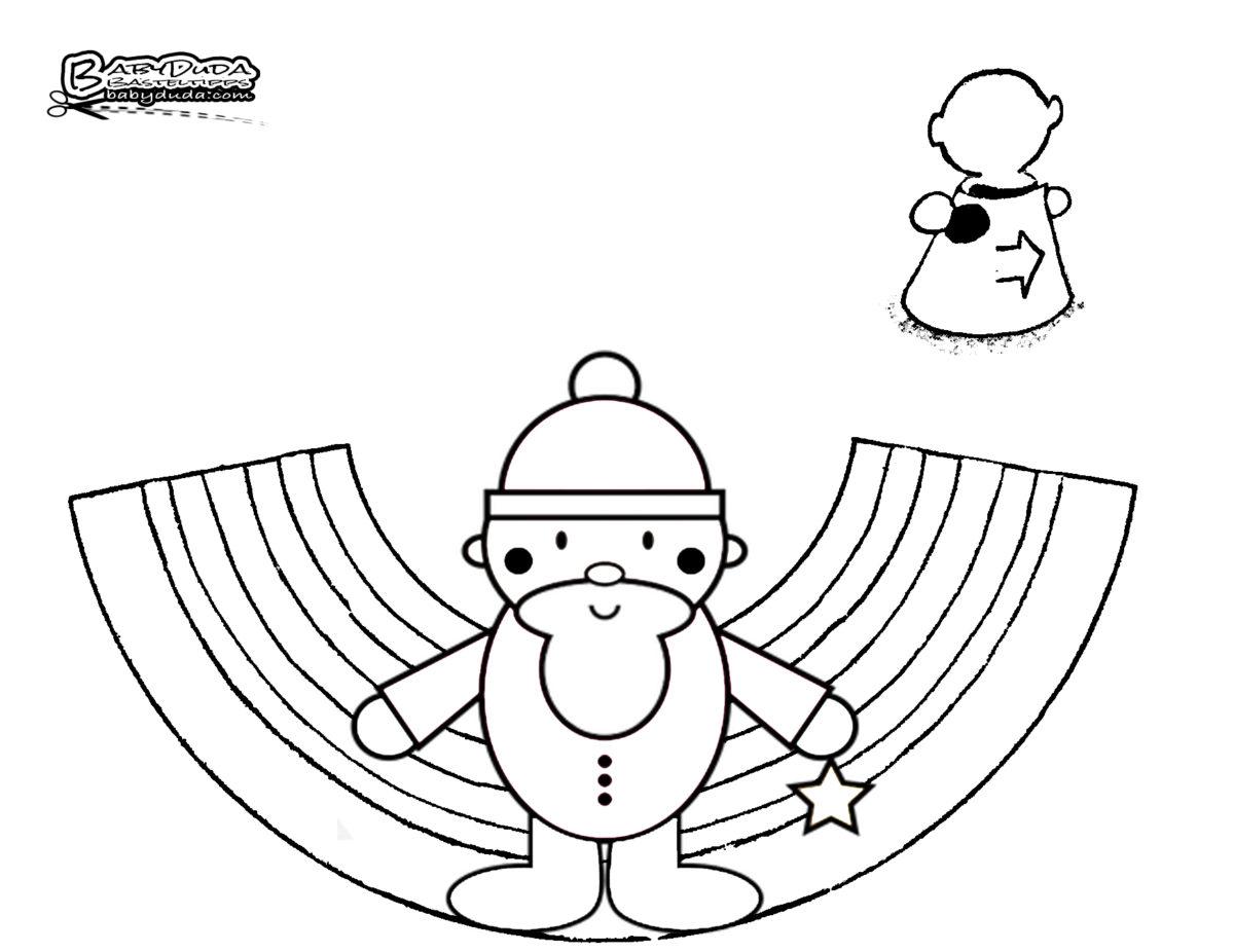 Tischaufsteller Weihnachtsmann