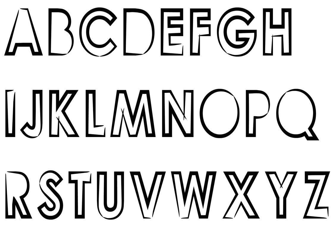 Buchstaben ausmalen: Alphabet Malvorlagen A-Z   BabyDuda