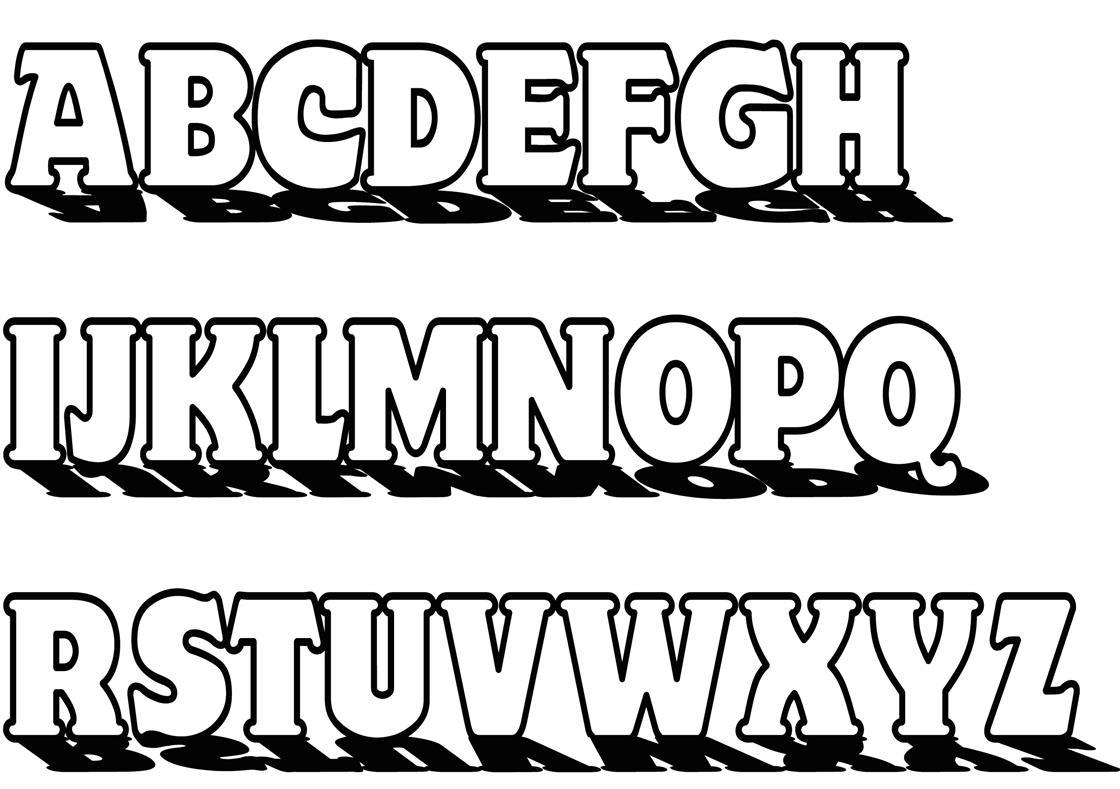 kostenloser download alphabet  abc malvorlage