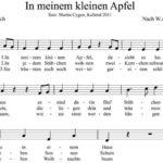 In meinem kleinen Apfel - liedertext und Noten