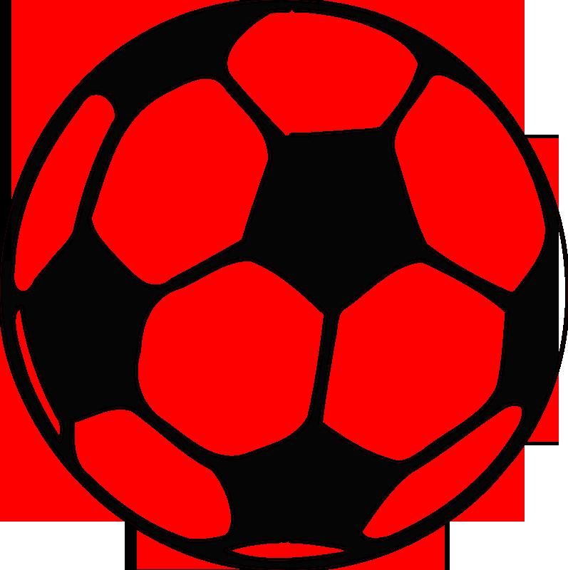 Malbild Fussball - Voralge zum selbst ausmalen