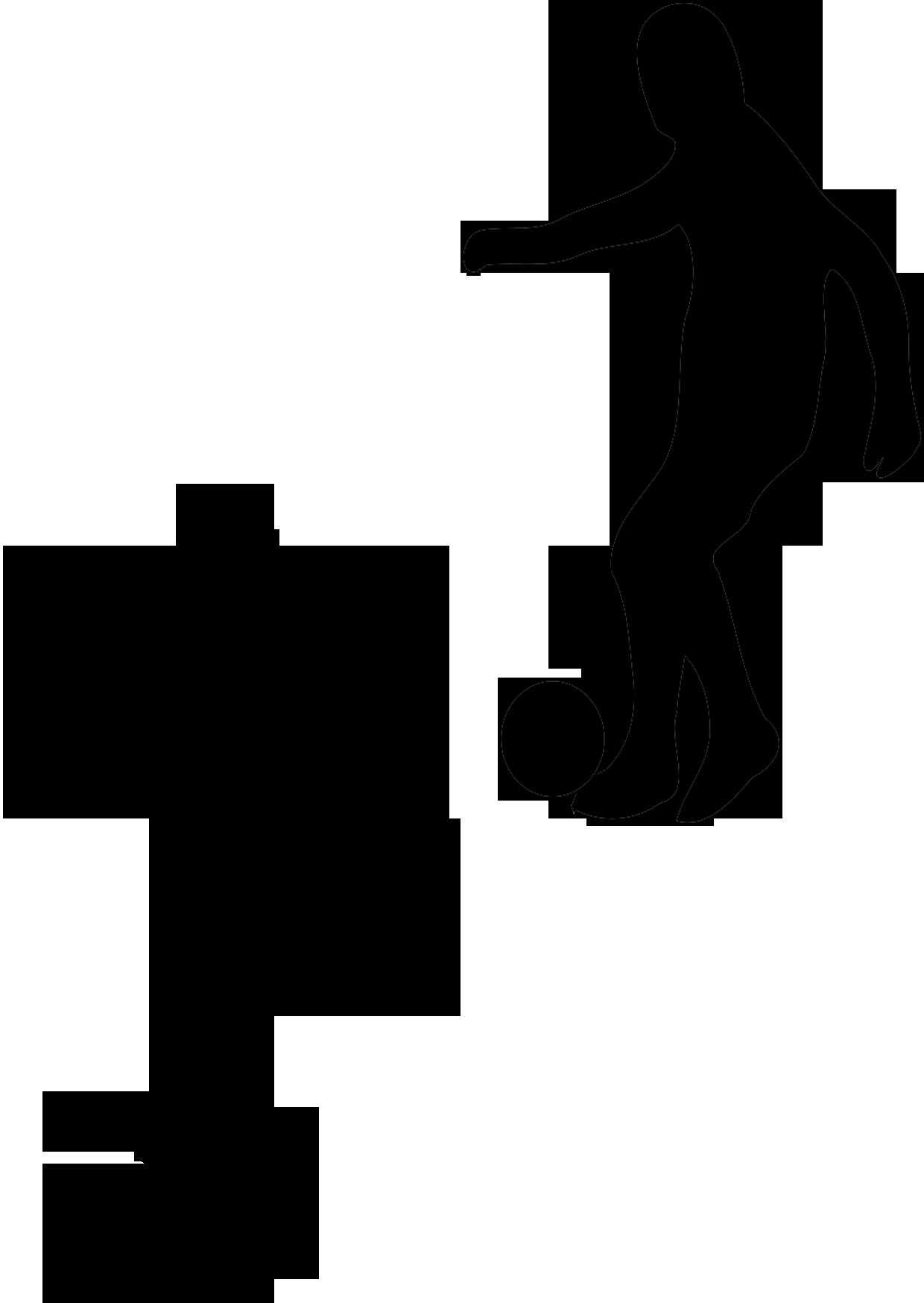 fußball malbild  scherenschnitt silhouette von